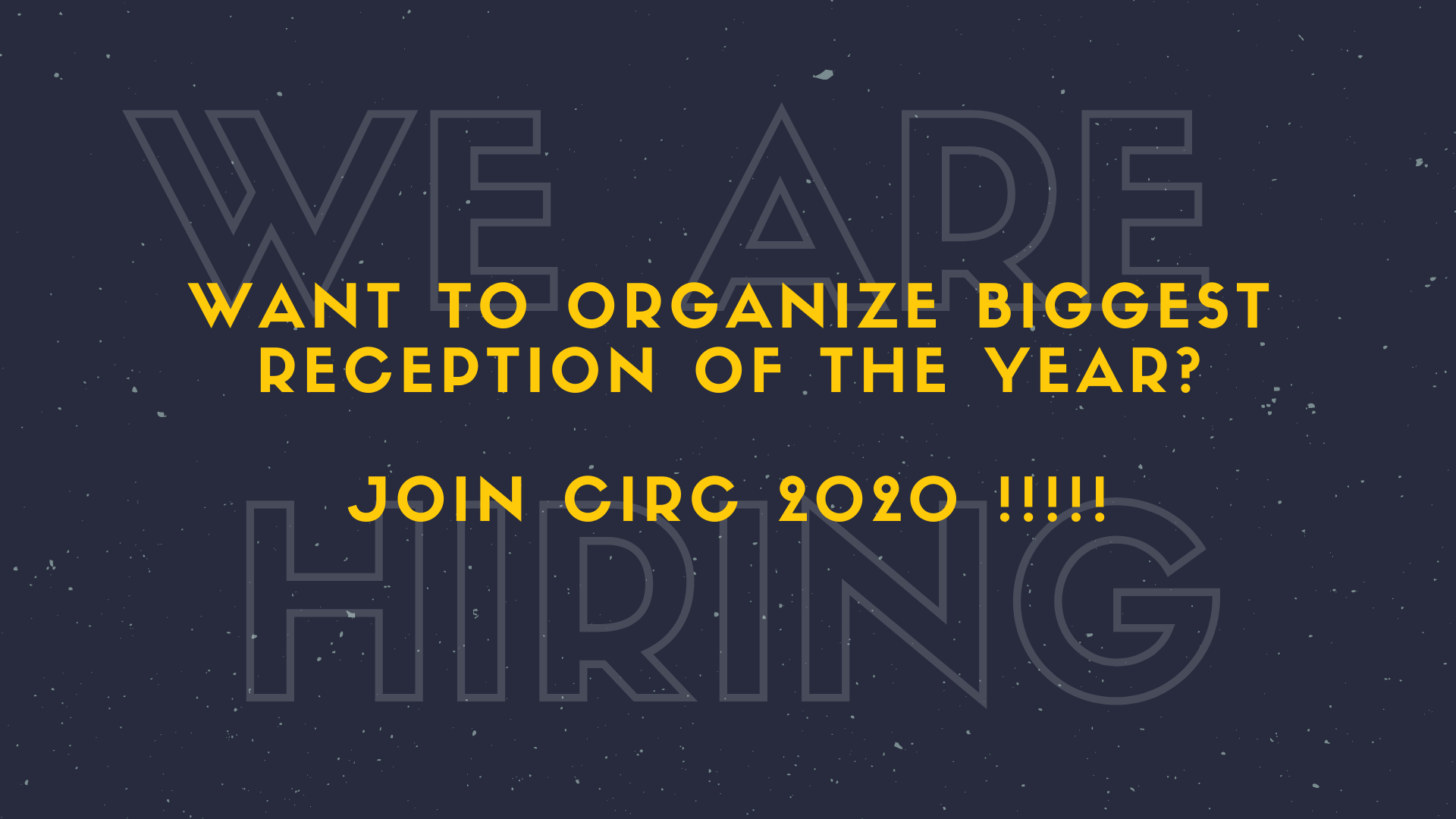 WE ARE HIRING !!!